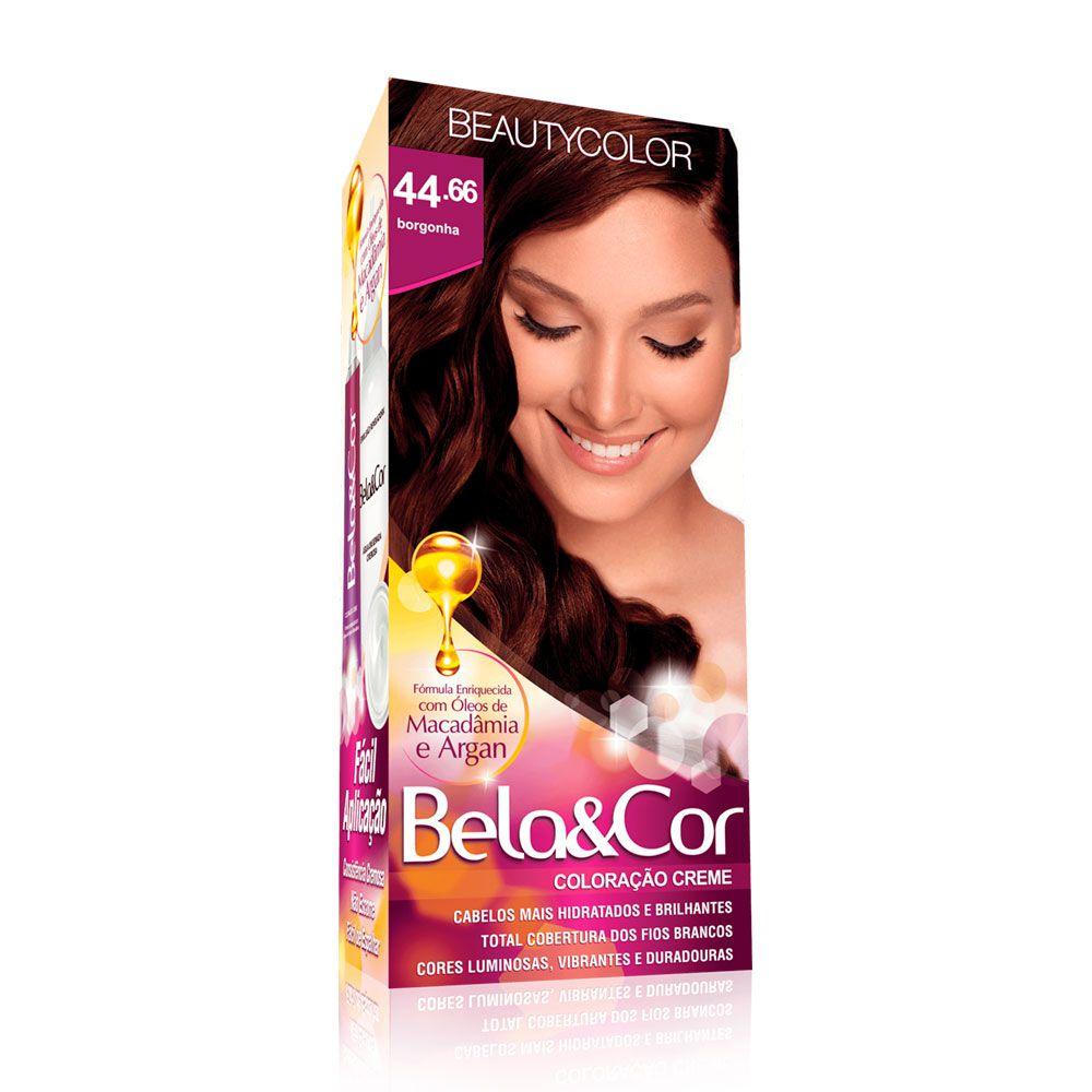 Tinta De Cabelo Beauty Color Bela & Cor 44.66 - Borgonha