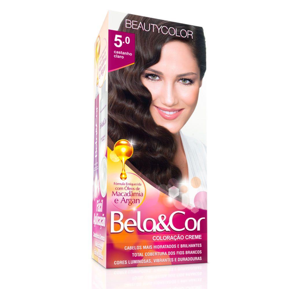 Tinta De Cabelo Beauty Color Bela & Cor 5.0 - Castanho Claro