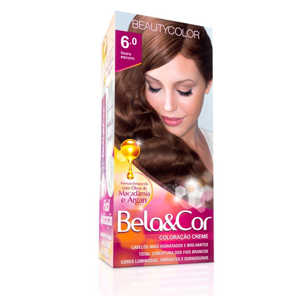 Tinta De Cabelo Beauty Color Bela & Cor 6.0 - Louro Escuro