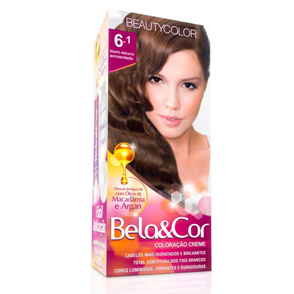 Tinta De Cabelo Beauty Color Bela & Cor 6.1 - Louro Escuro Acinzentado