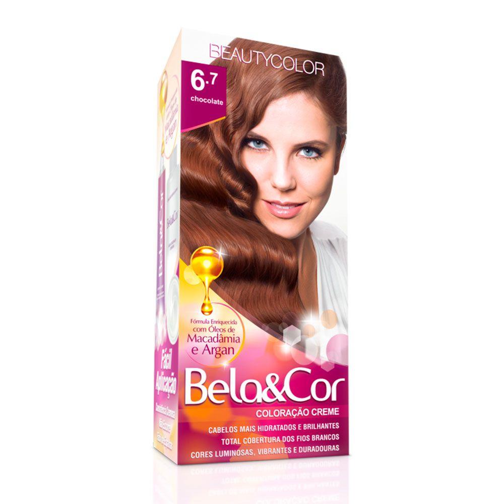 Tinta De Cabelo Beauty Color Bela & Cor 6.7 - Chocolate