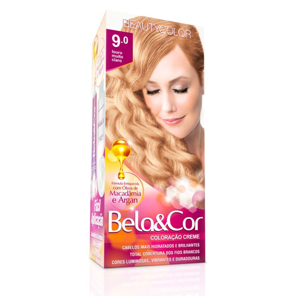 Tinta De Cabelo Beauty Color Bela & Cor 9.0 - Louro Muito Claro