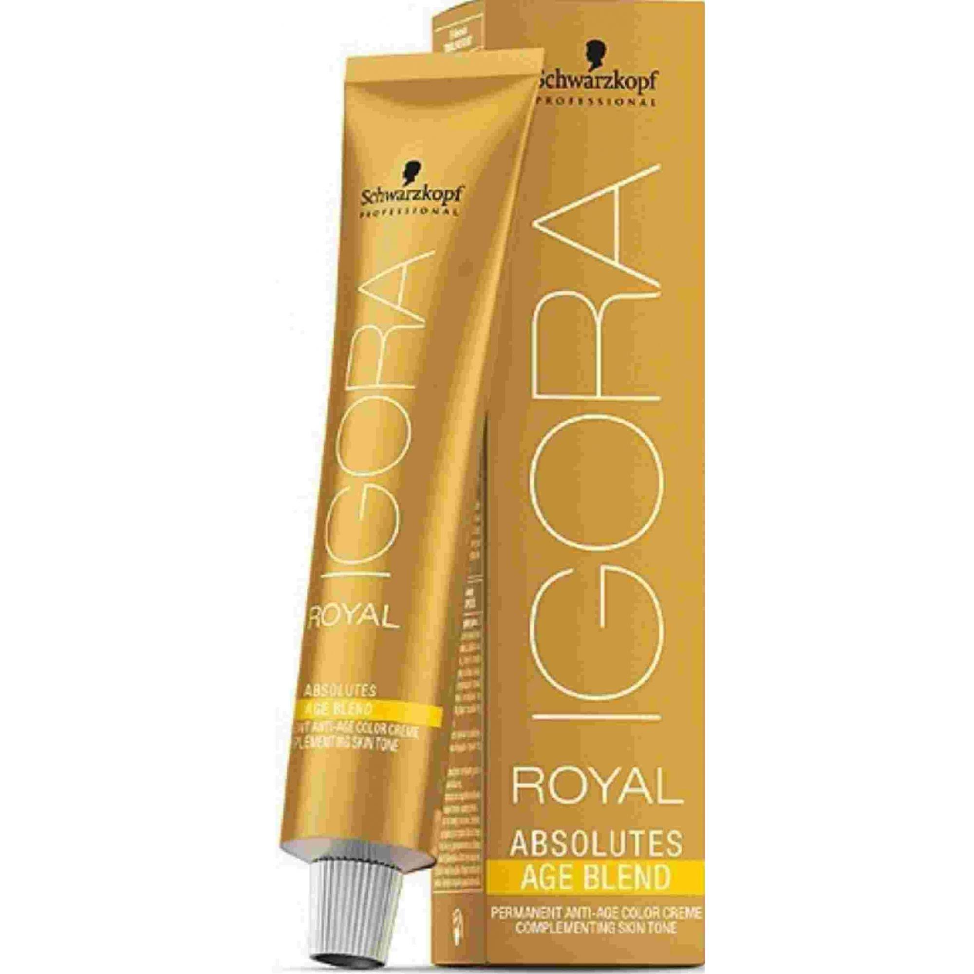 Tinta Igora Royal Absolutes Age Blend 60g - Cor 8.07 - Louro Claro Natural Cobre