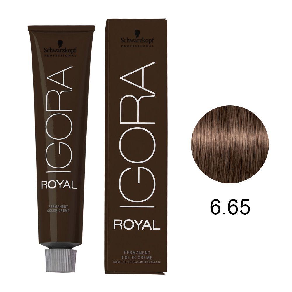 Tinta Igora Color10 60g - Cor 6.65 - Louro Escuro Marrom Dourado
