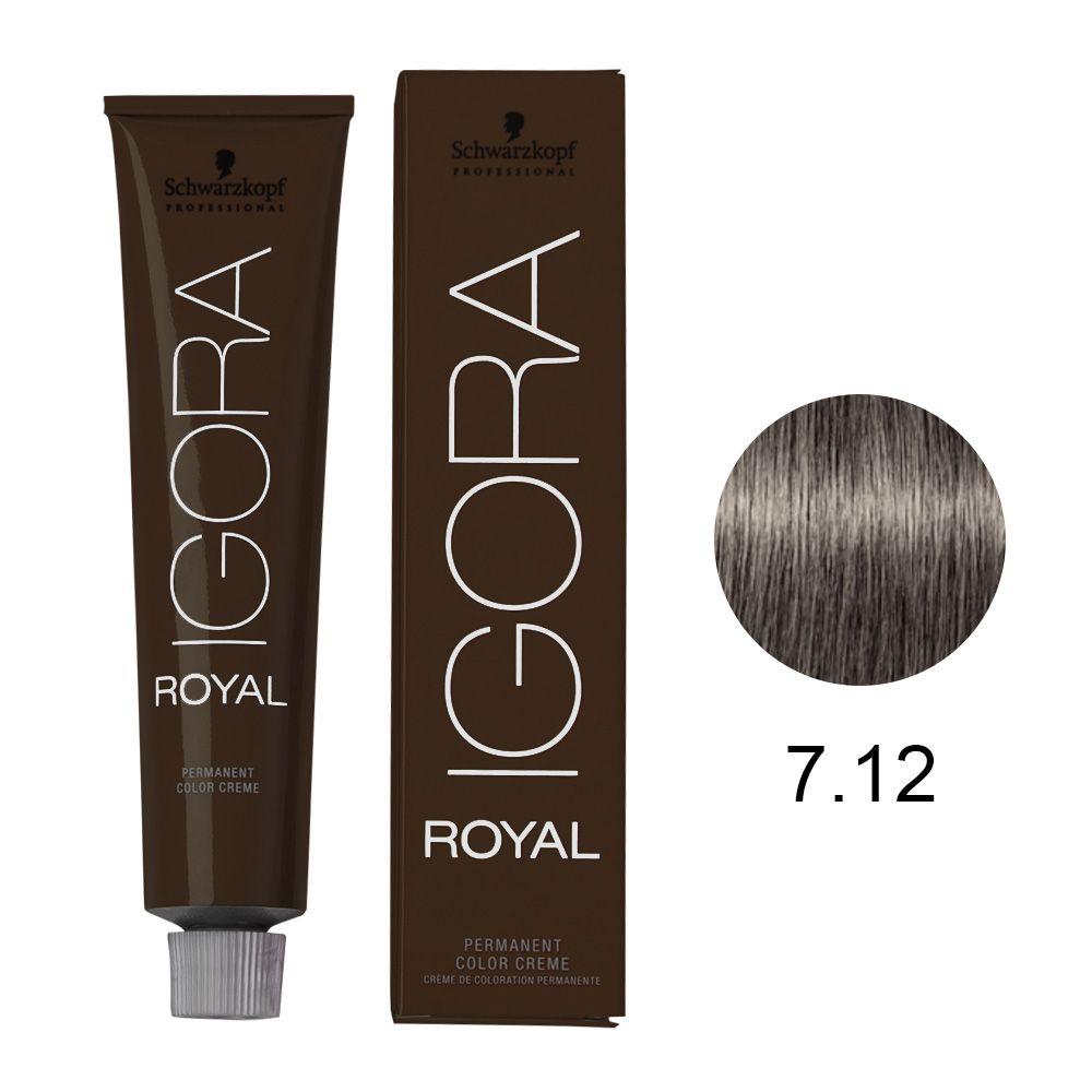 Tinta Igora Color10 60g - Cor 7.12 - Castanho Médio Cinza Fumê