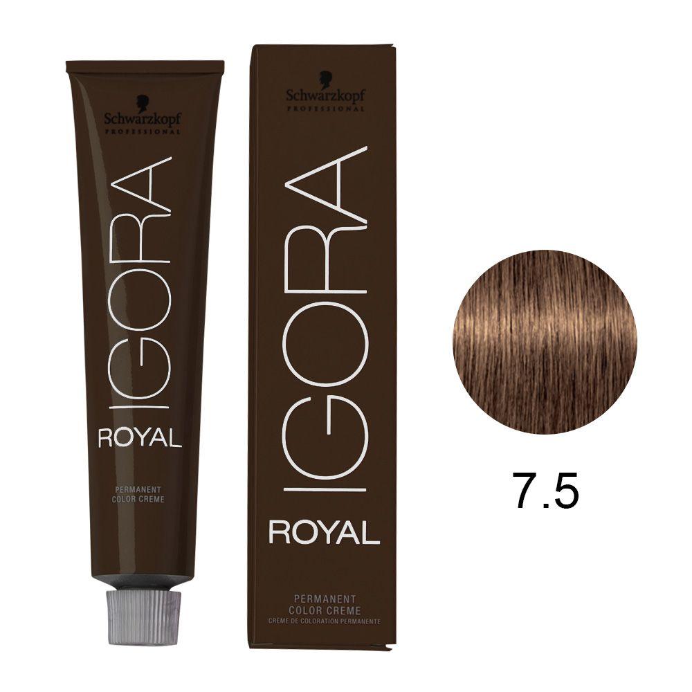 Tinta Igora Color10 60g - Cor 7.5 - Louro Médio Dourado