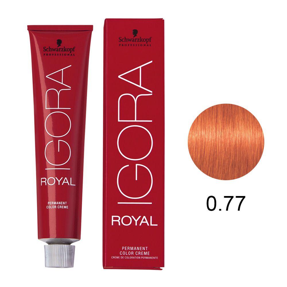 Tinta Igora Royal 60g - Cor 0.77 - Mistura Cobre