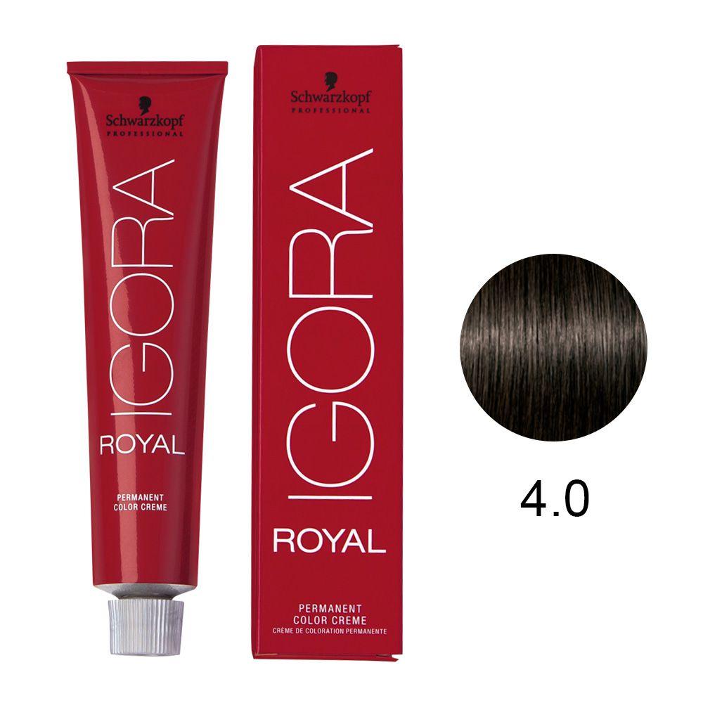 Tinta Igora Royal 60g - Cor 4.0 - Castanho Médio
