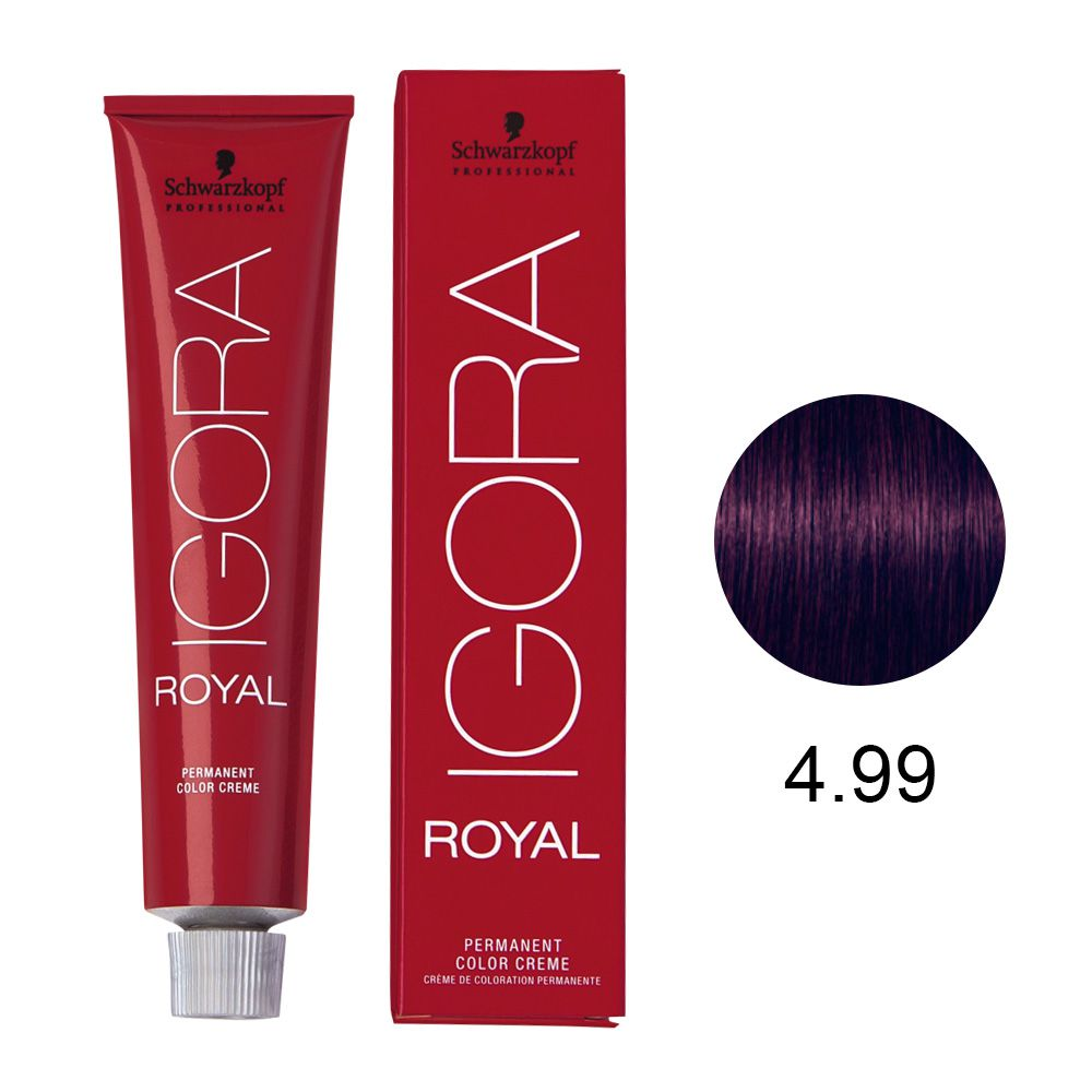 Tinta Igora Royal 60g - Cor 4.99 - Castanho Médio Violeta Extra
