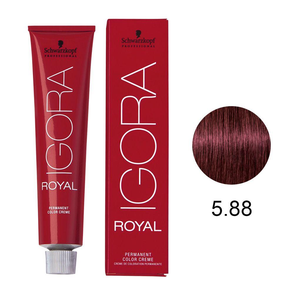 Tinta Igora Royal 60g - Cor 5.88 - Castanho Claro Vermelho Extra