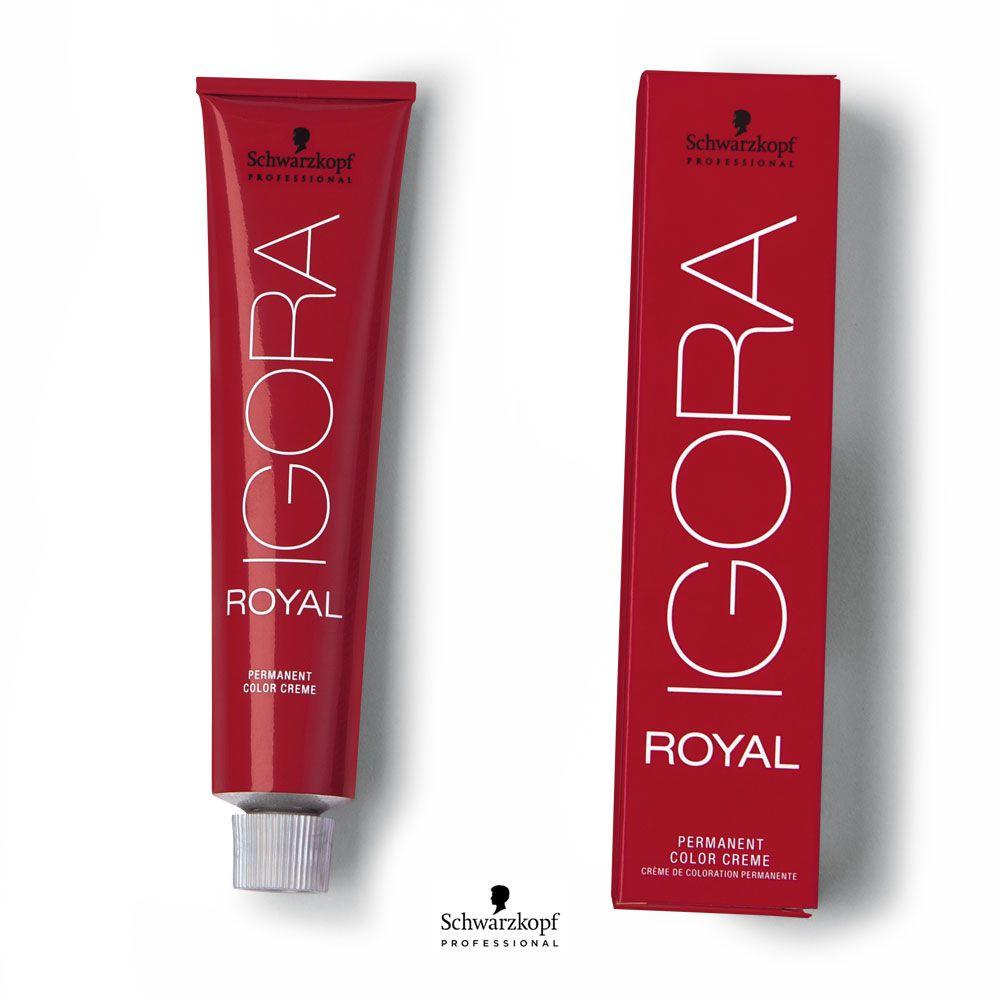 Tinta Igora Royal 60g - Cor 6.68 - Louro Escuro Marrom Vermelho