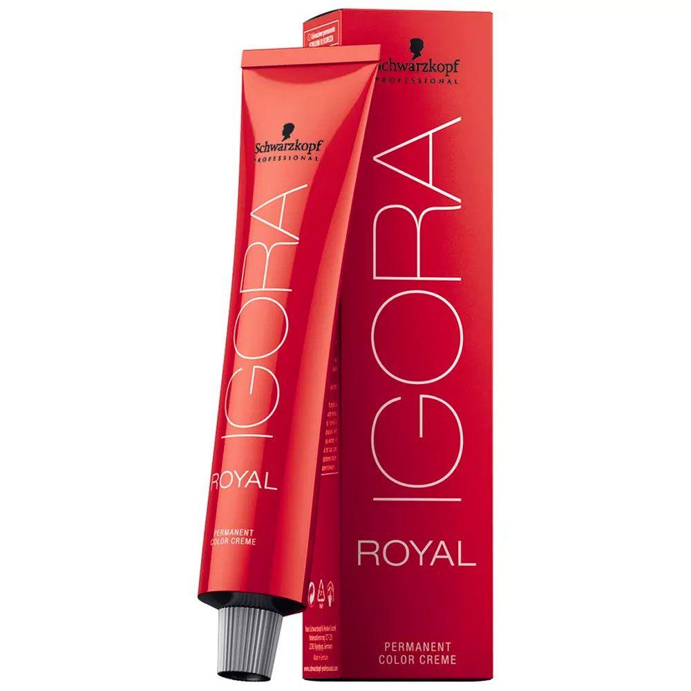 Tinta Igora Royal 60g - Cor 7.65 - Louro Médio Marrom Dourado