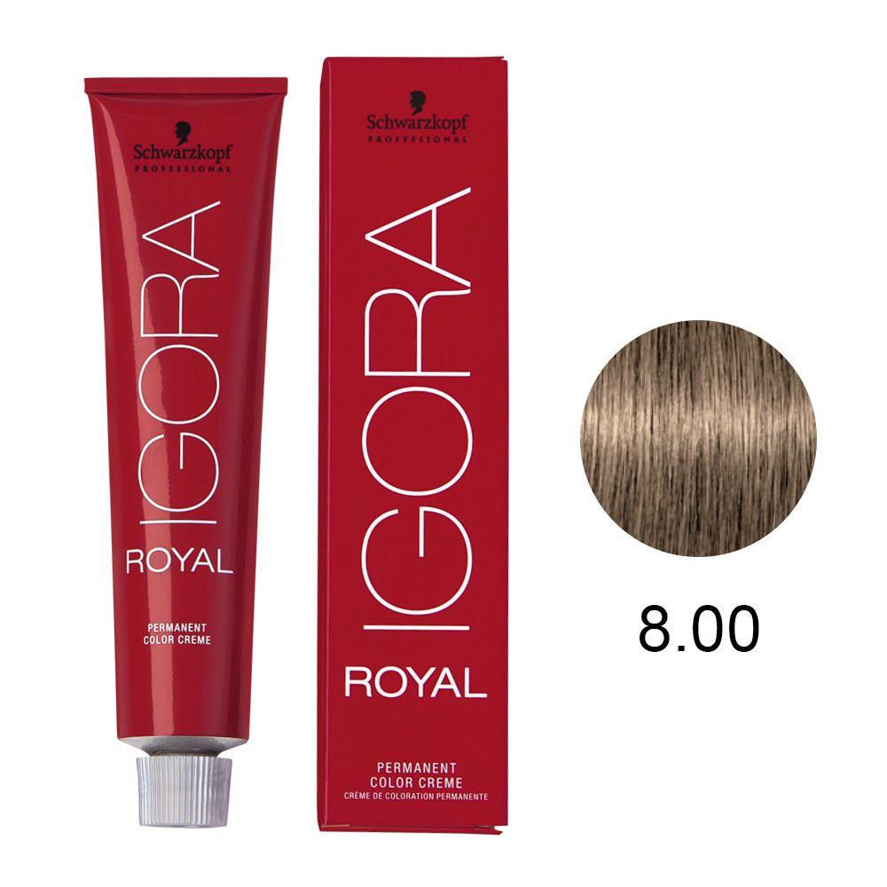 Tinta Igora Royal 60g - Cor 8.00 - Louro Claro