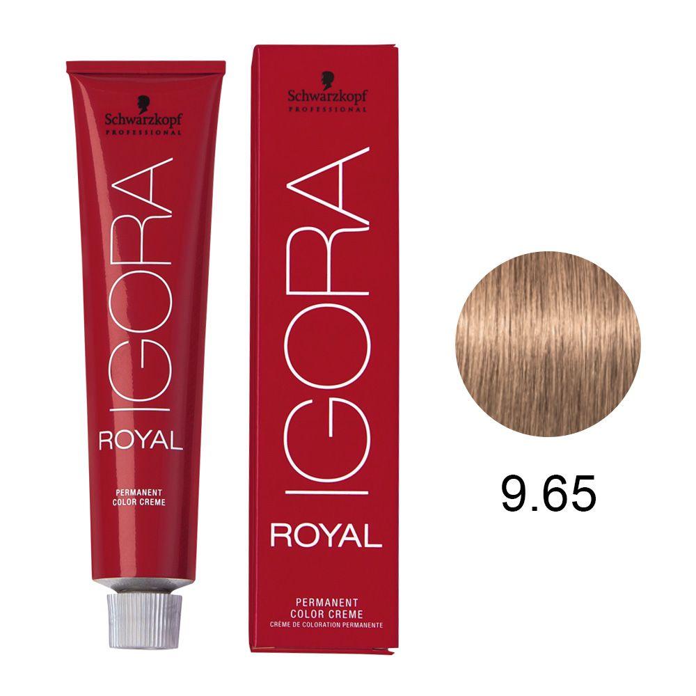 Tinta Igora Royal 60g - Cor 9.65 - Louro Extra Claro Marrom Dourado
