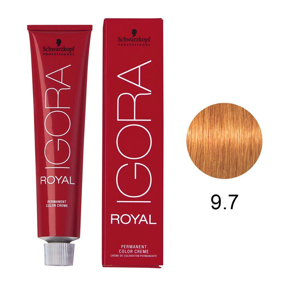 Tinta Igora Royal 60g - Cor 9.7 - Louro Extra Claro Cobre