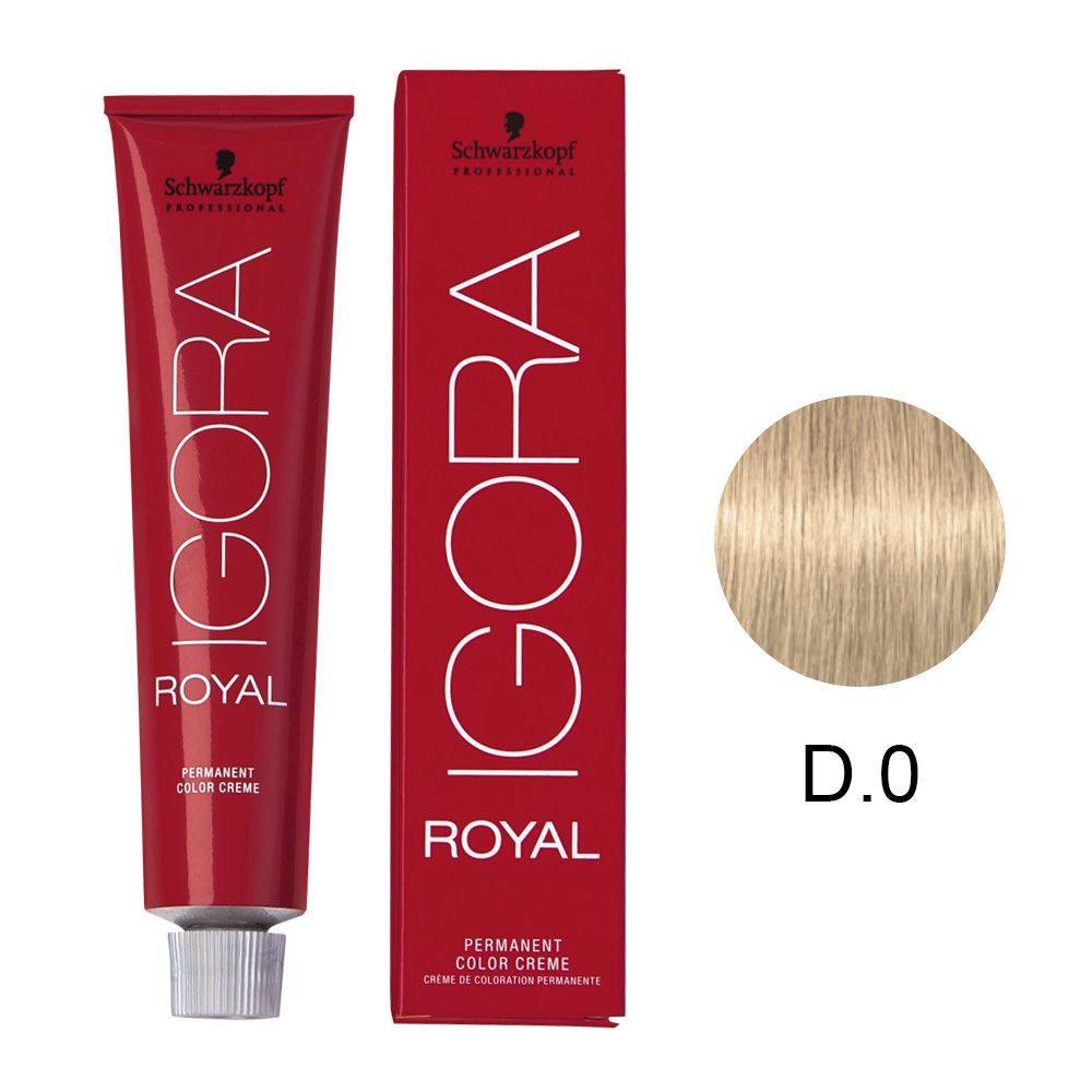 Tinta Igora Royal 60g - Cor D.0 - Natural Tom De Mistura