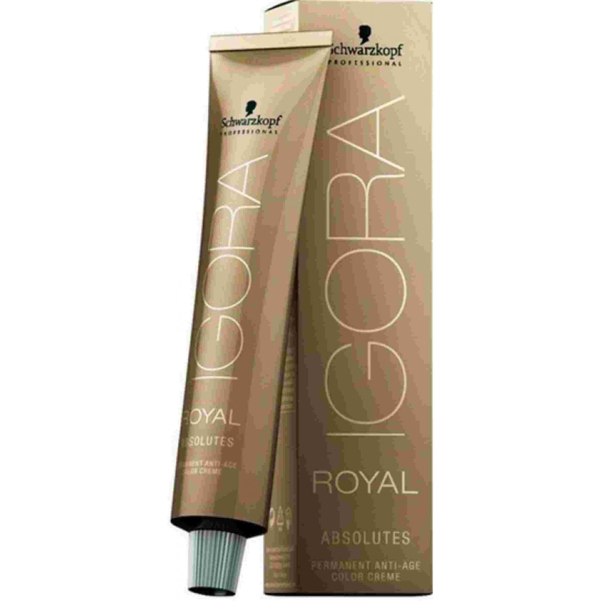 Tinta Igora Royal Absolutes 60g - Cor 6.50 - Louro Escuro Dourado Natural