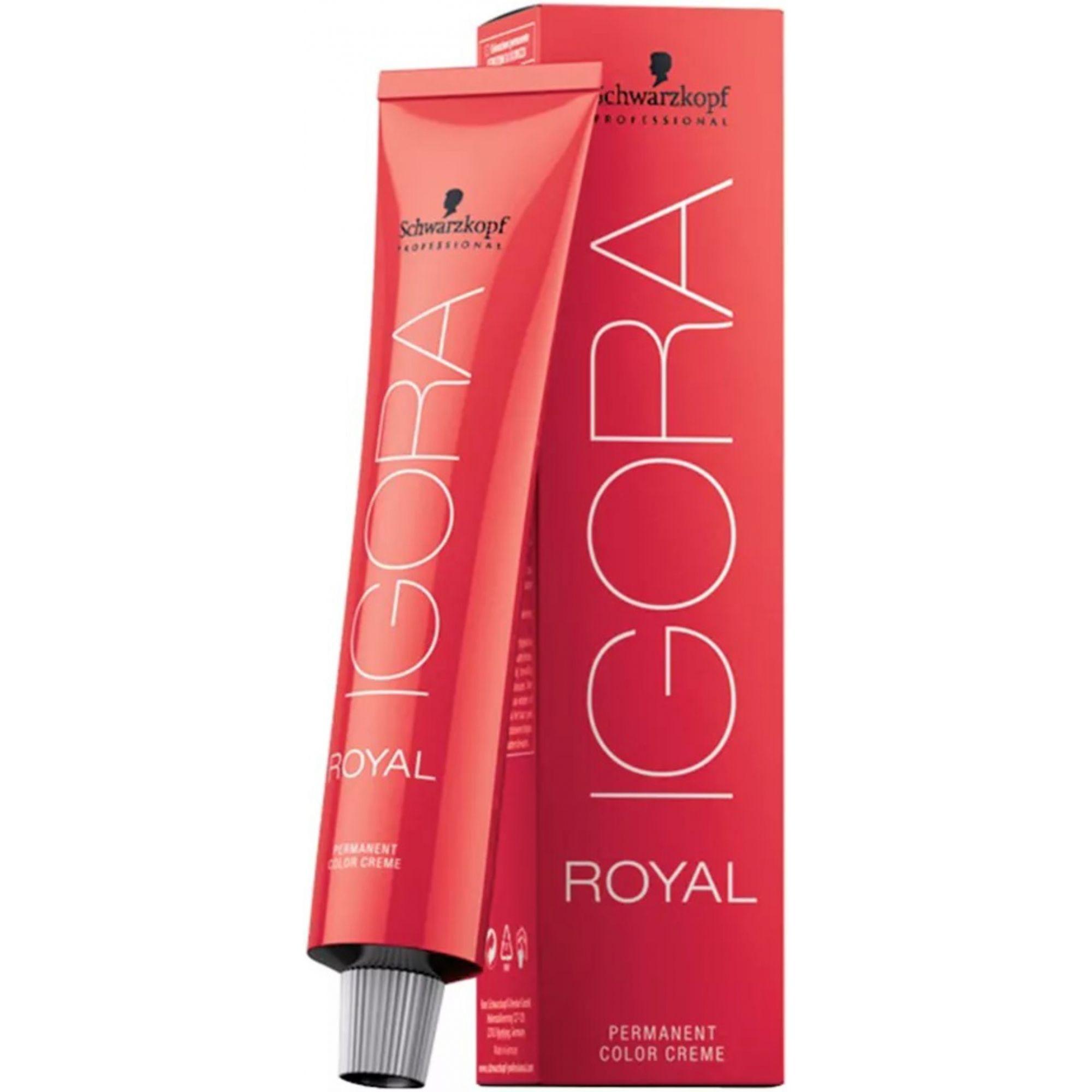 Tinta Igora Royal 60g - Cor 6.12 - Louro Escuro Cinza Fumê