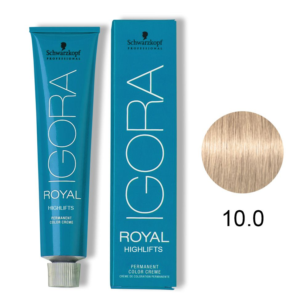 Tinta Igora Royal Highlifts 60g - Cor 10.0 - Louro Ultra Claro Natural
