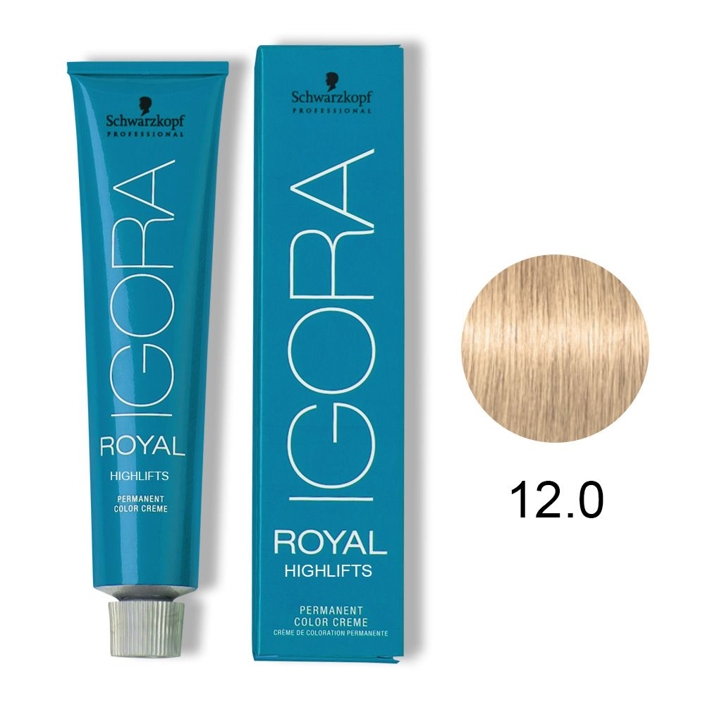 Tinta Igora Royal Highlifts 60g - Cor 12.0 - Super Clareador Natural