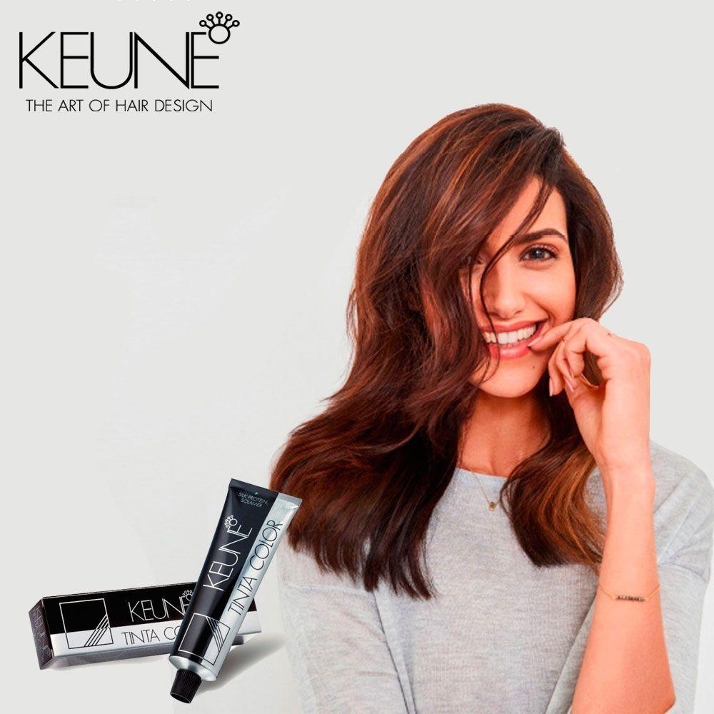 Tinta Keune Color 60ml - Cor 4.45 - Castanho Médio Cobre Mogno