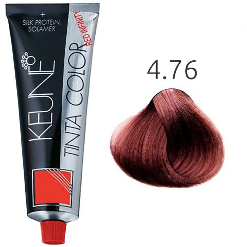 Tinta Keune Color Red Infinity 60ml - Cor 4.76 - Castanho Médio Violeta Vermelho