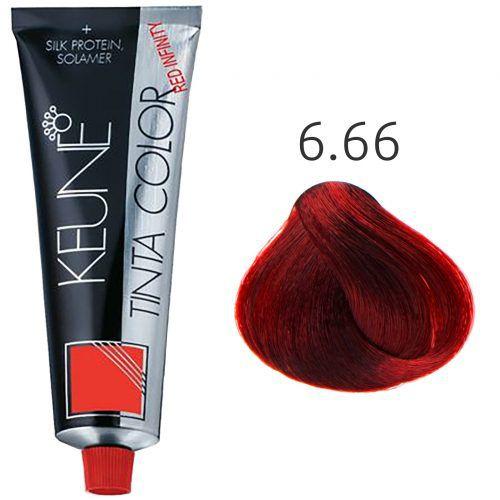 Tinta Keune Color Red Infinity 60ml - Cor 6.66 - Vermelho Intenso