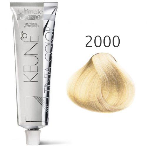 Tinta Keune Color Ultimate Blonde 60ml - Cor 2000 - Super Louro