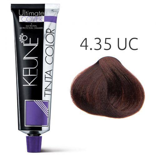 Tinta Keune Color Ultimate Cover 60ml - Cor 4.35 - Marrom Chocolate Médio