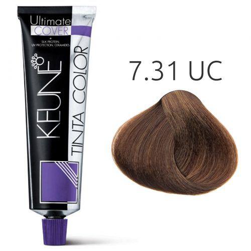 Tinta Keune Color Ultimate Cover 60ml - Cor 7.31 - Louro Bege Dourado