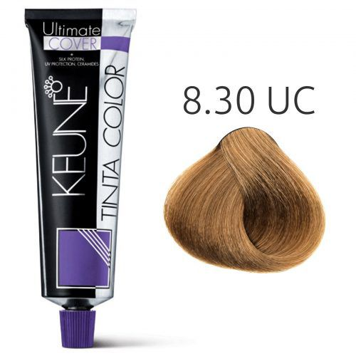 Tinta Keune Color Ultimate Cover 60ml - Cor 8.30 - Louro Claro Dourado Natural