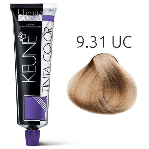 Tinta Keune Color Ultimate Cover 60ml - Cor 9.31 - Louro Muito Claro Dourado Cinza