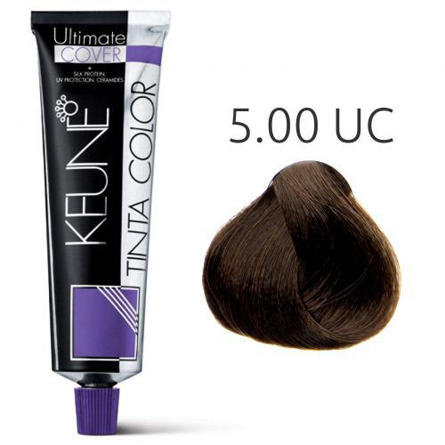 Tinta Keune Color Ultimate Cover Plus 60ml - Cor 5.00 - Castanho Claro
