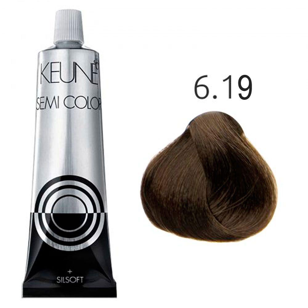 Tinta Keune Semi Color 60ml - Cor 6.19 - Louro Escuro Mate