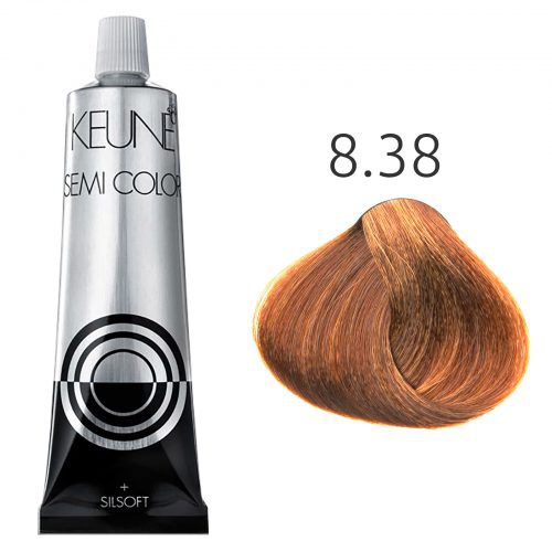 Tinta Keune Semi Color 60ml - Cor 8.38 - Louro Claro Avelã