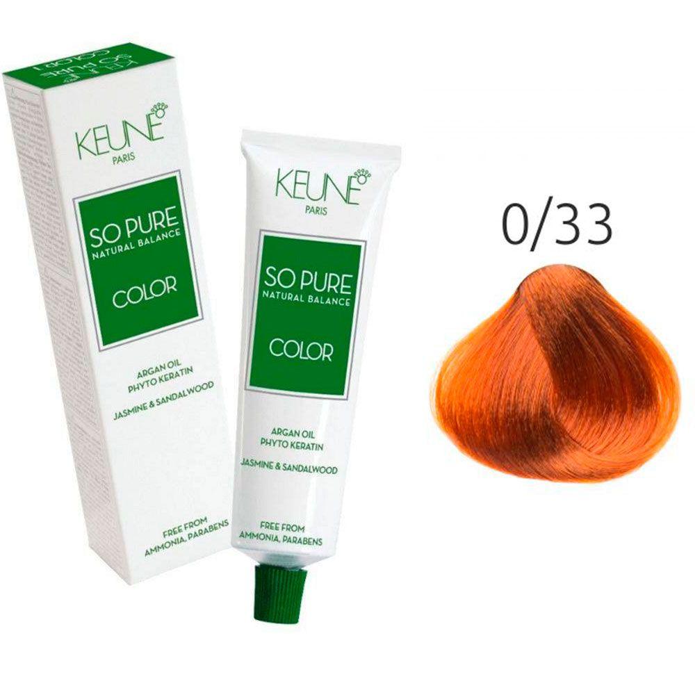 Tinta Keune So Pure 60ml - Cor 0/33 - Dourado