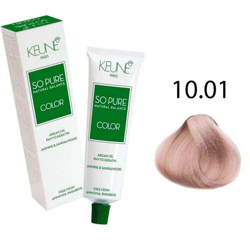 Tinta Keune So Pure 60ml - Cor 10.01 - Louro Claríssimo Platinado