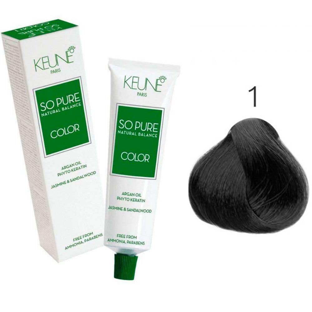Tinta Keune So Pure 60ml - Cor 1 - Preto
