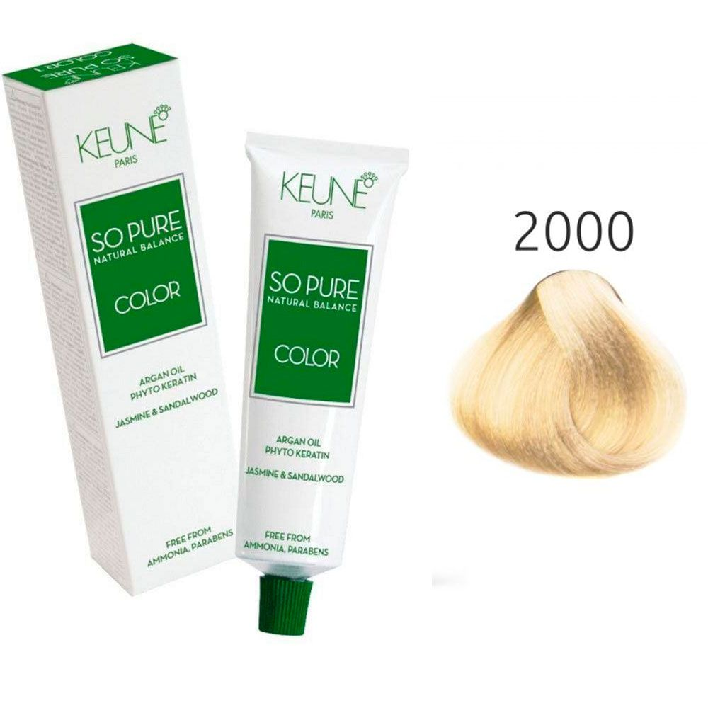 Tinta Keune So Pure 60ml - Cor 2000- Super Louro