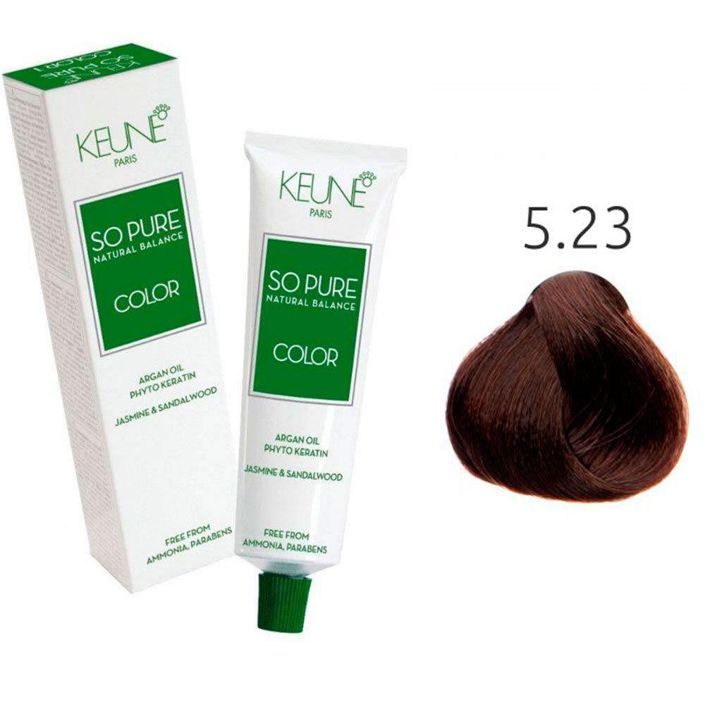 Tinta Keune So Pure 60ml - Cor 5.23 - Castanho Claro Cacau