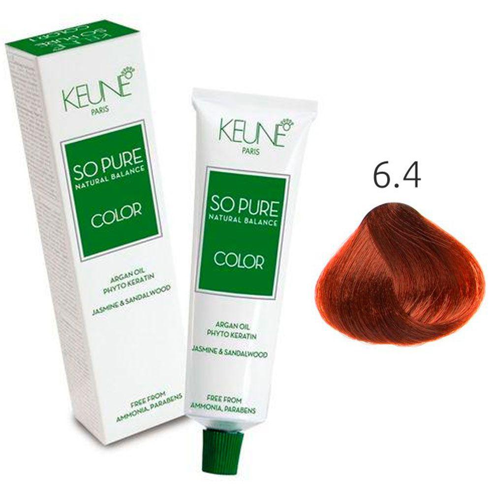 Tinta Keune So Pure 60ml - Cor 6.4 - Louro Escuro Cobre