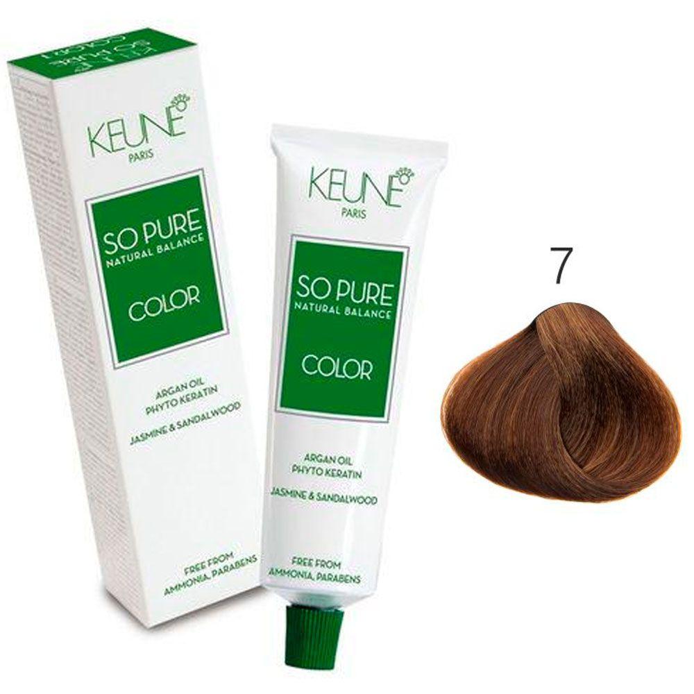 Tinta Keune So Pure 60ml - Cor 7 - Louro Médio