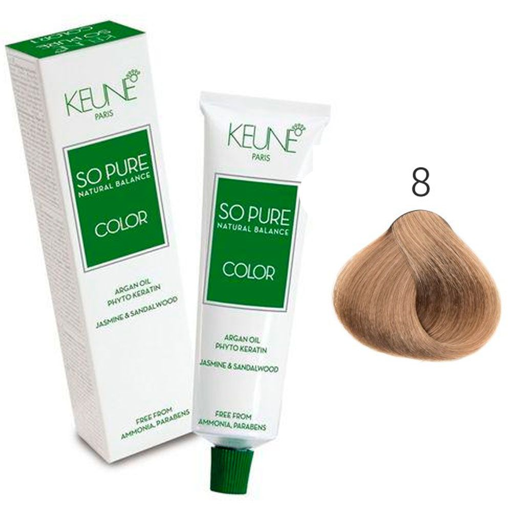 Tinta Keune So Pure 60ml - Cor 8 - Louro Claro