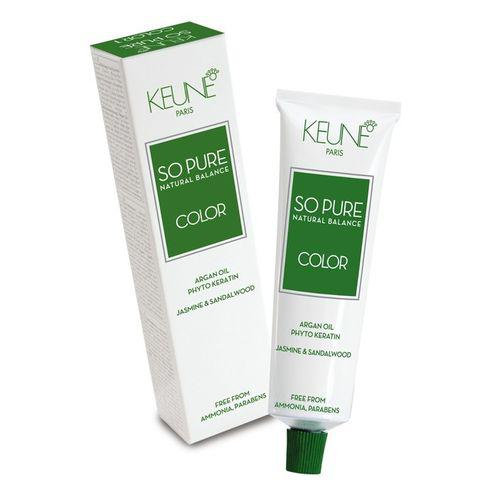 Tinta Keune So Pure 60ml - Cor 8.38 - Louro Claro Avelã