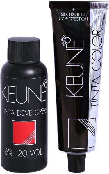 Tintura Color Keune Cor 3 Castanho Escuro + Creme Oxidante Keune 6% 20 volumes