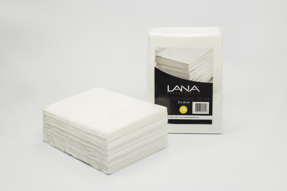 Toalha Descartável Lana  25X35 - 50un Manicure Pedicure Multiuso