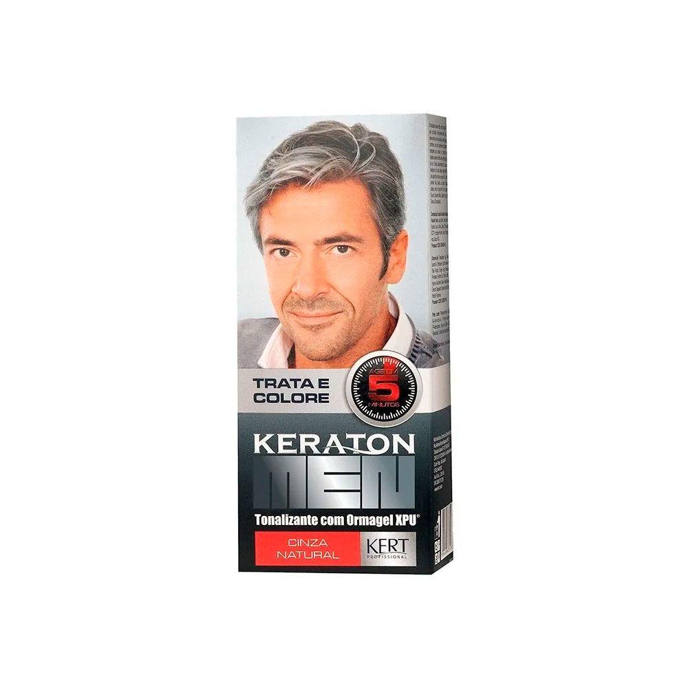 Tonalizante Keraton Men Cor Cinza Natural - 30ml - Kert