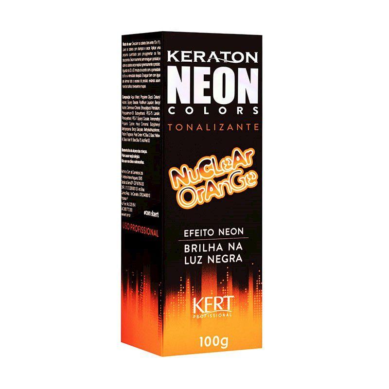 Tonalizante Neon - Keraton Neon Colors - Nuclear Orange 100g