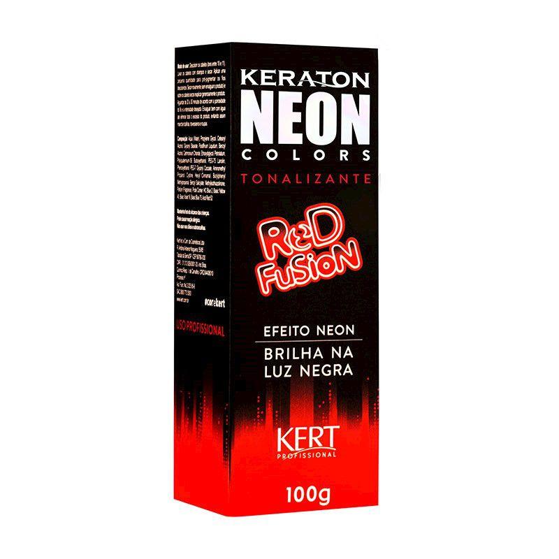 Tonalizante Neon - Keraton Neon Colors - Red Fusion 100g