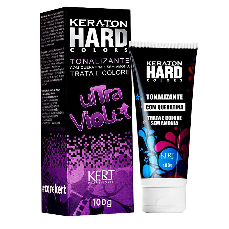 Tonalizante Keraton Hard Colors - Ultra Violet 100g
